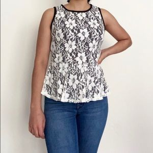 Lace peplum top from Forever 21!